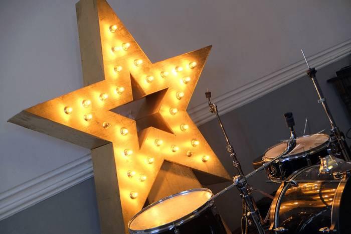 Объёмная Звезда с  ретро-лампочками