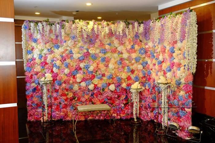 "Цветочная стена ""Летний  сад"" угловая"